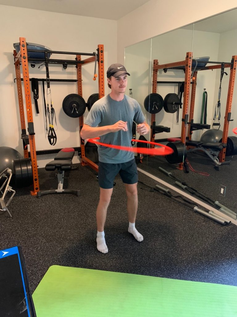 Photo of Jake Bean working out